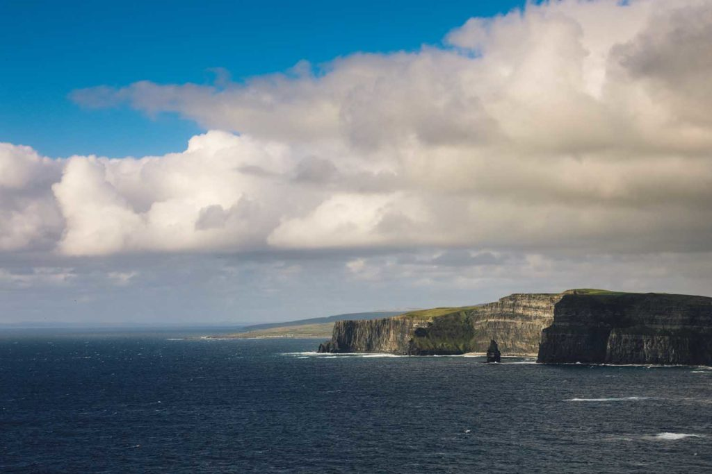 View of the coastline at The Cliff's of Moher, Co. Clare, Ireland