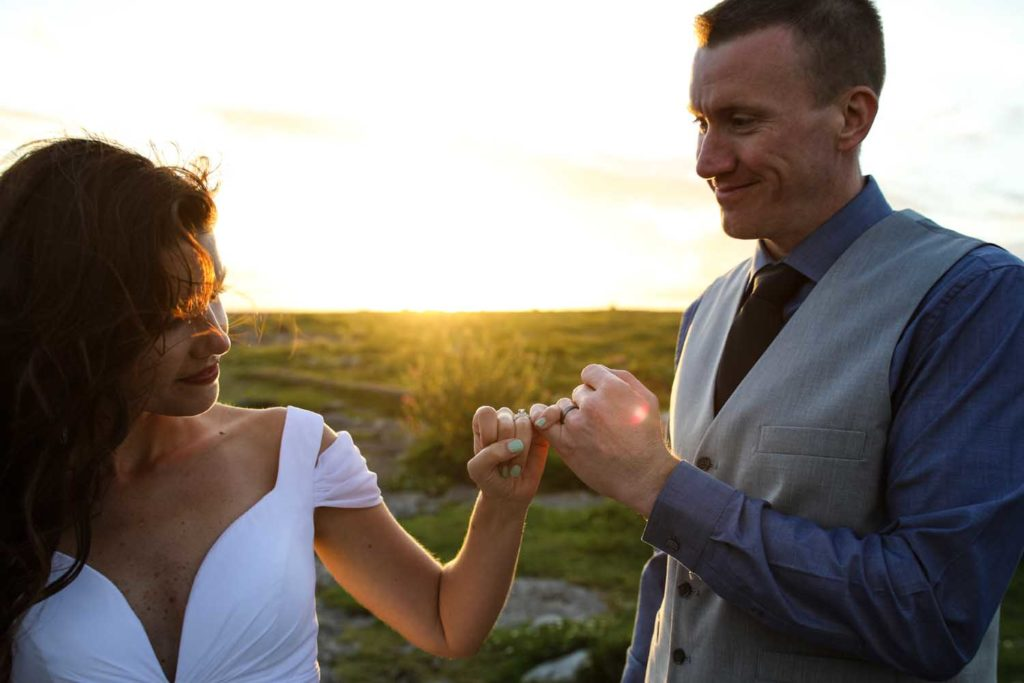 Couple on their elopement in the west of Ireland