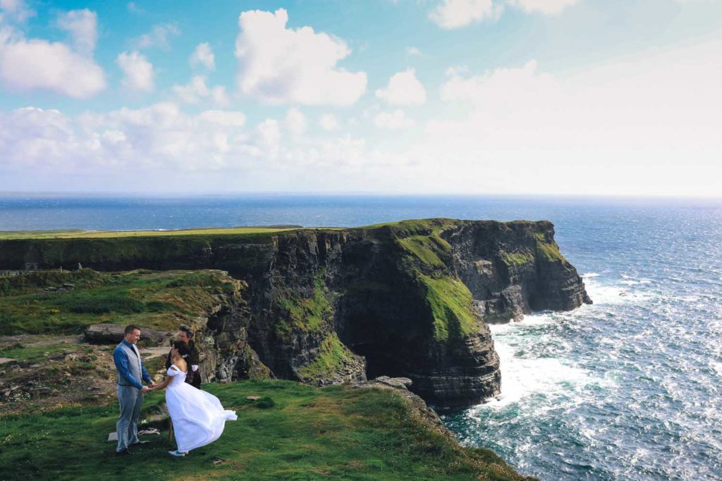 Small wedding ceremony in the west of Ireland