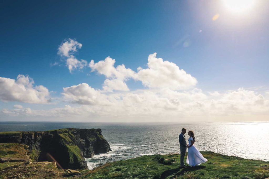 Couple on elopement in the west of Ireland