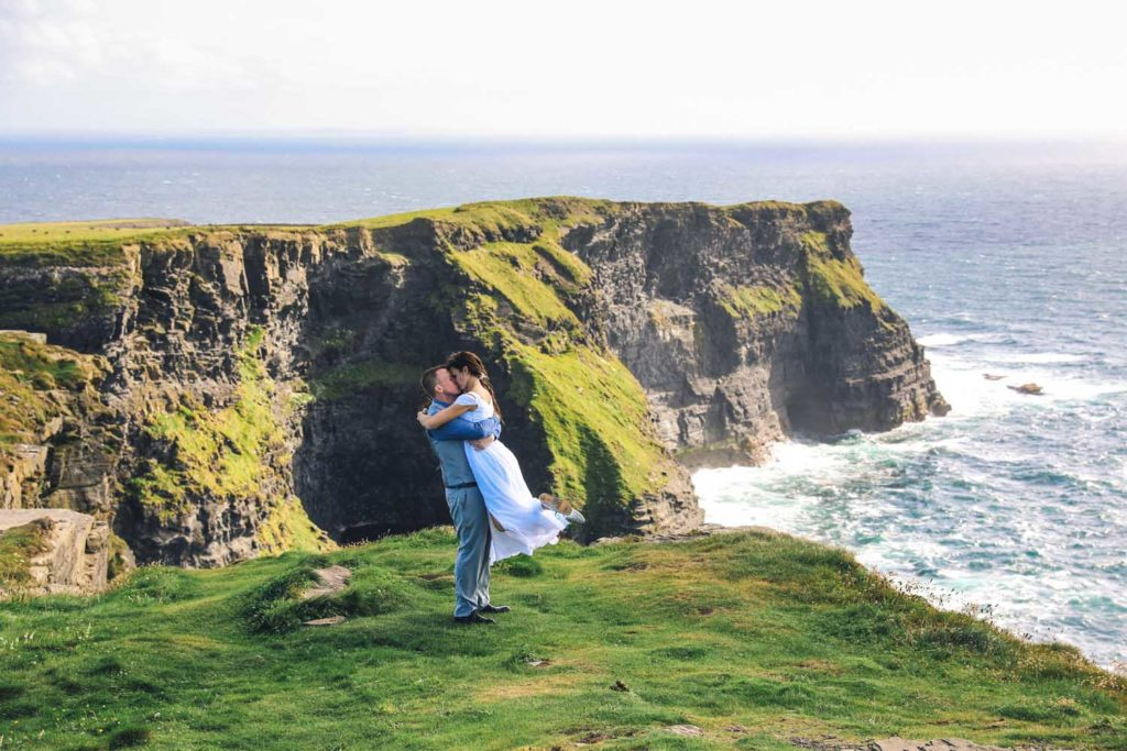Married couple at Hag's Head, Co. Clare
