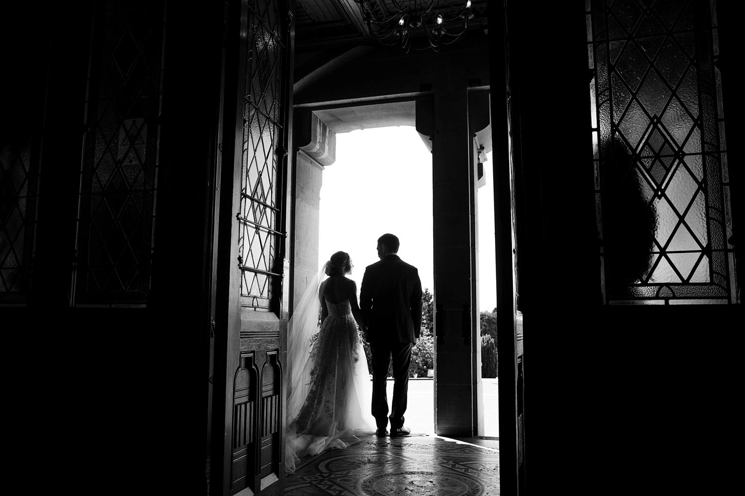 Married couple leaving the church - at Monaghan Cathedral