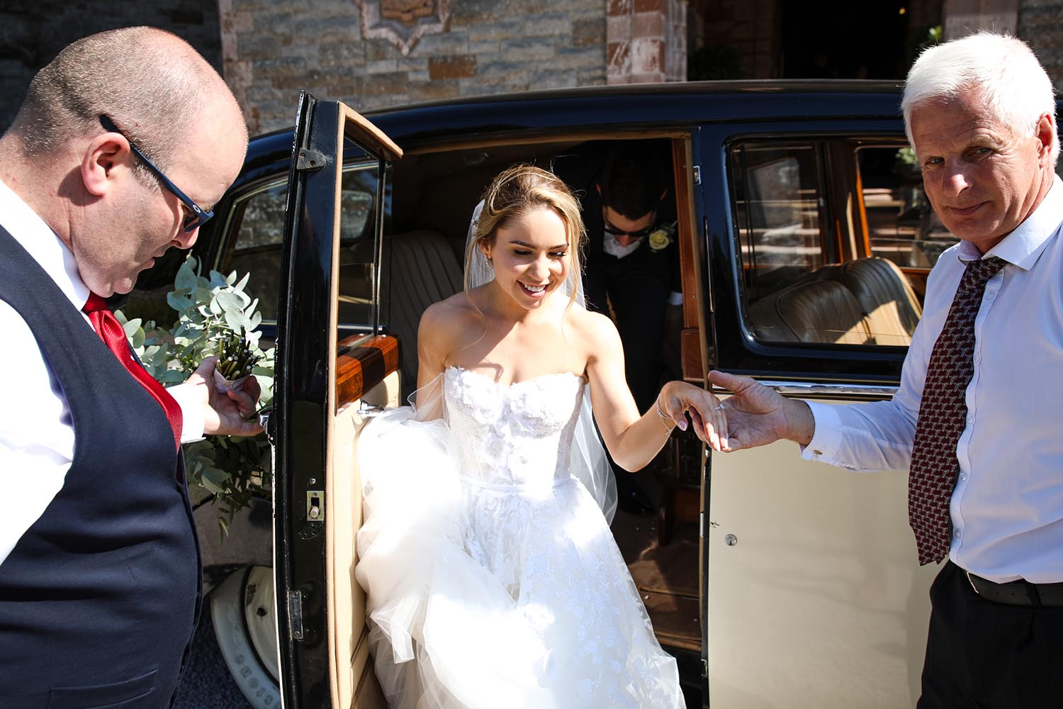 Bride arrive to St Macartan's Cathedral, Monaghan