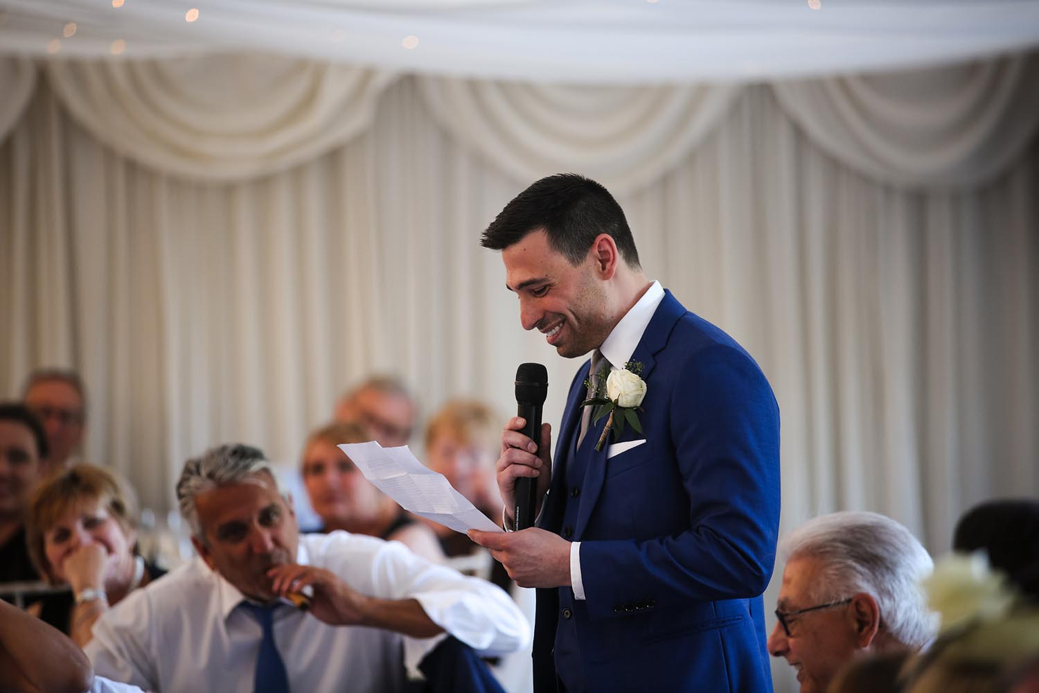 Best Man giving his speech