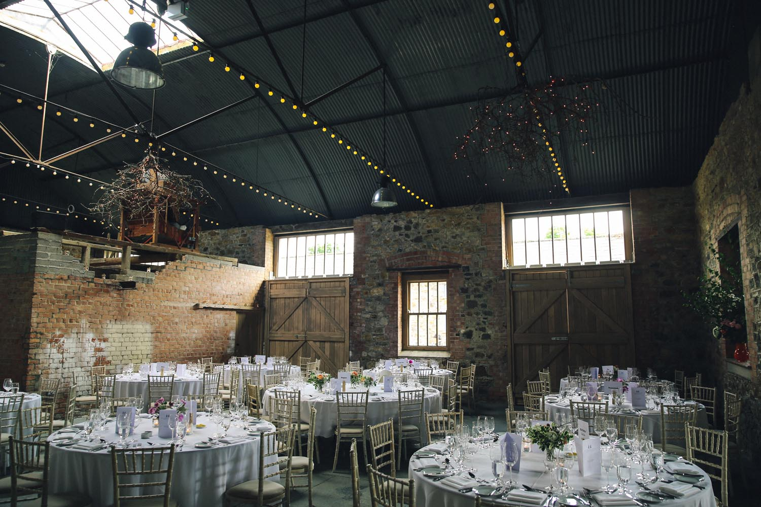 Table setting in the Grain Store