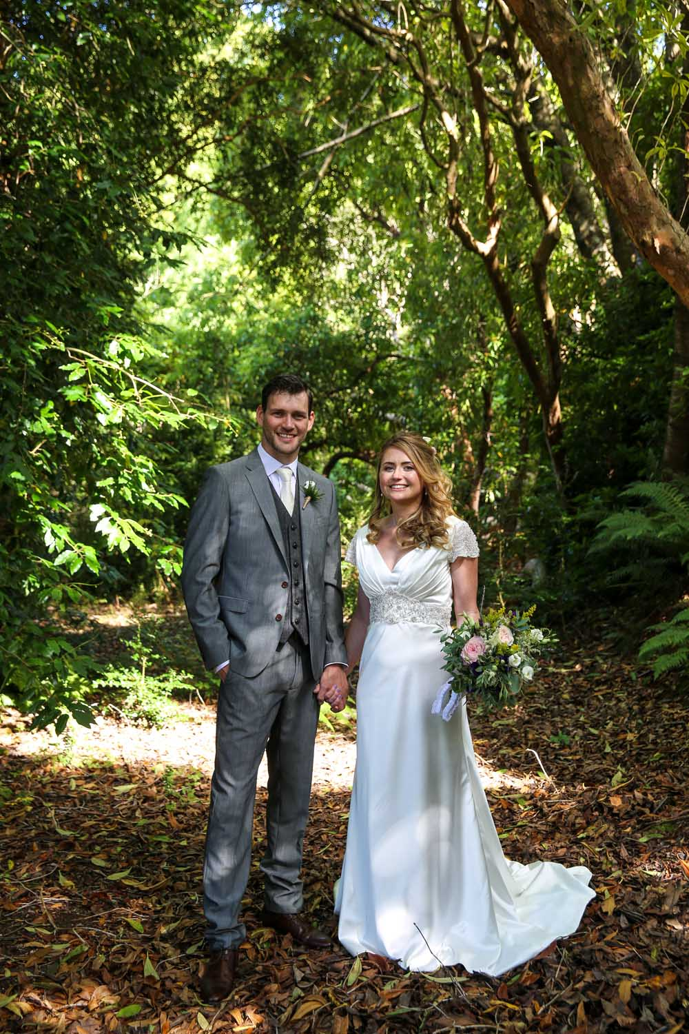 Bride and Groom at Killruddery gardens on their wedding day