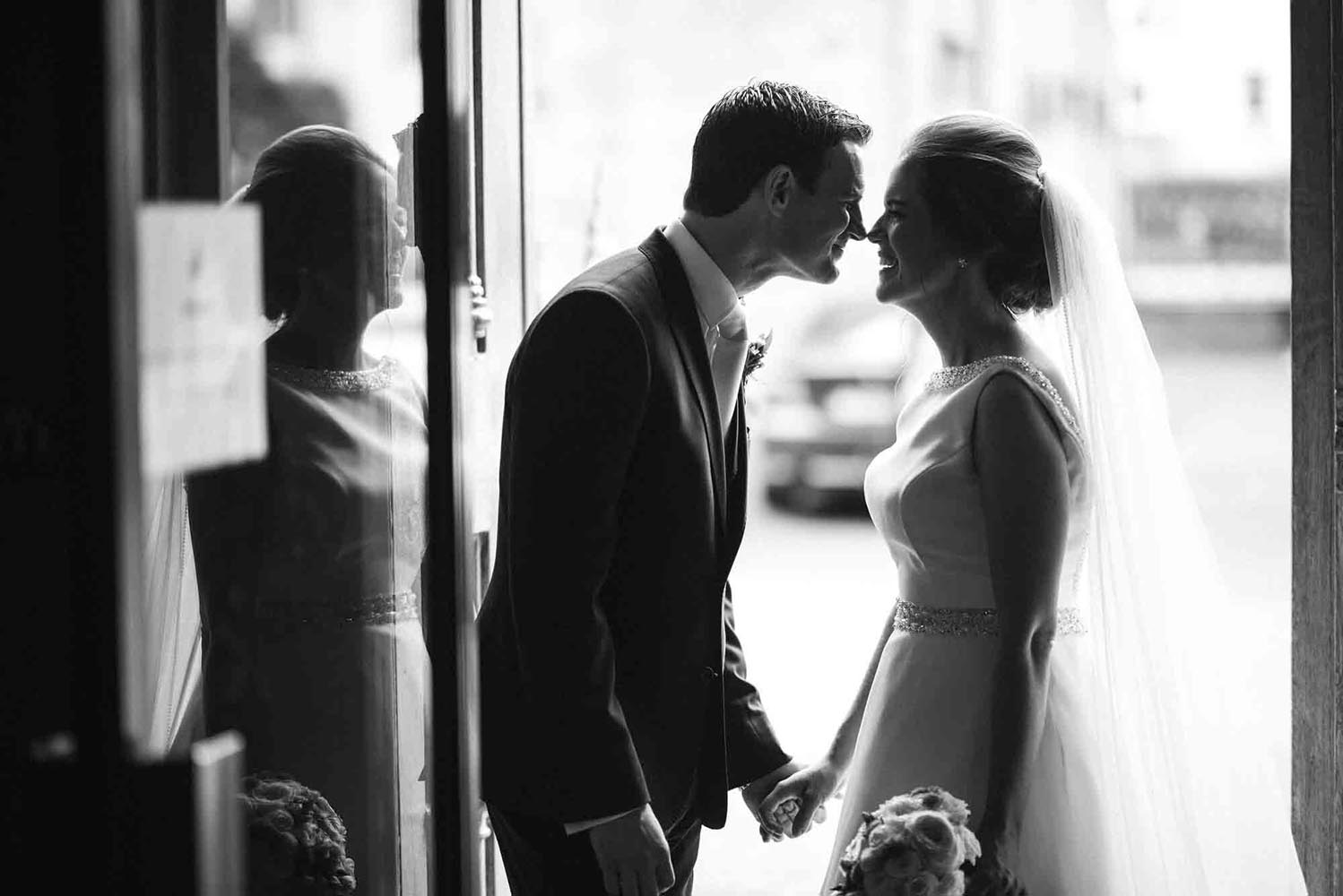 Bride and Groom together at St Mary's Cathedral in Kilkenny city