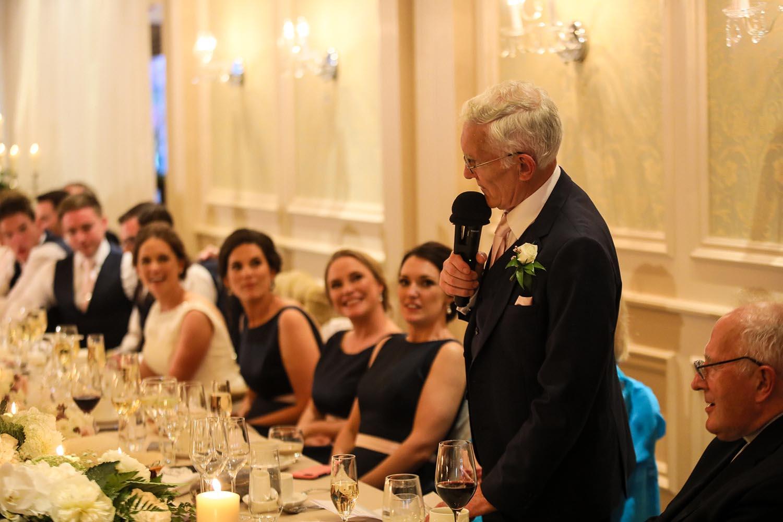 Man making speech at wedding