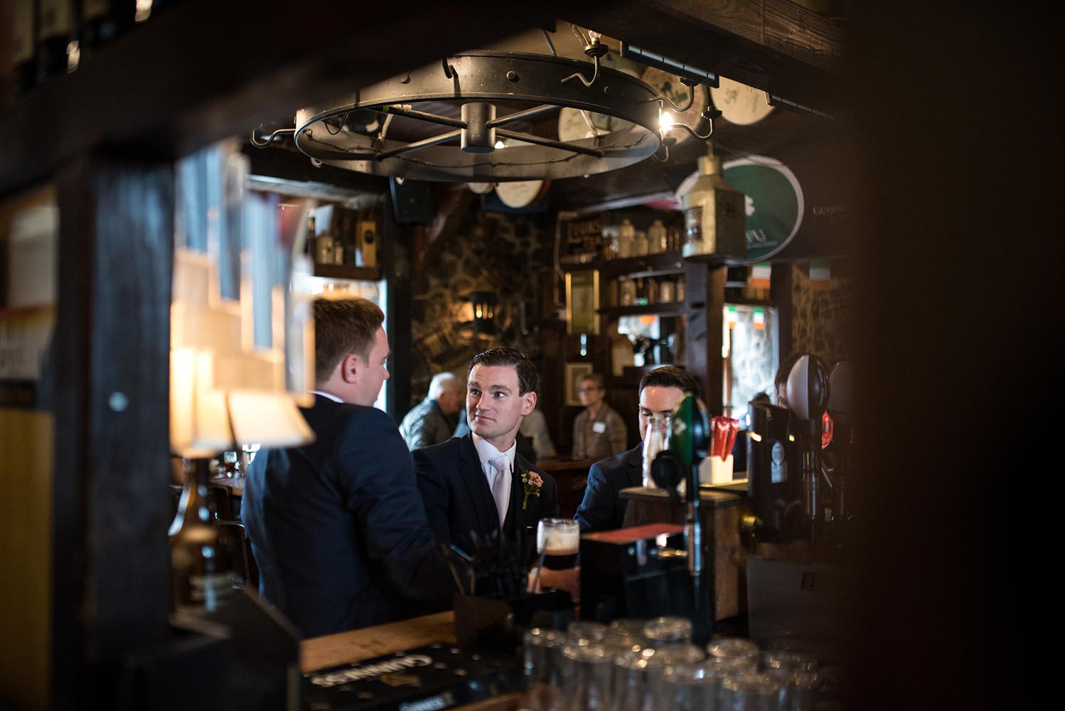 Groom in the pub