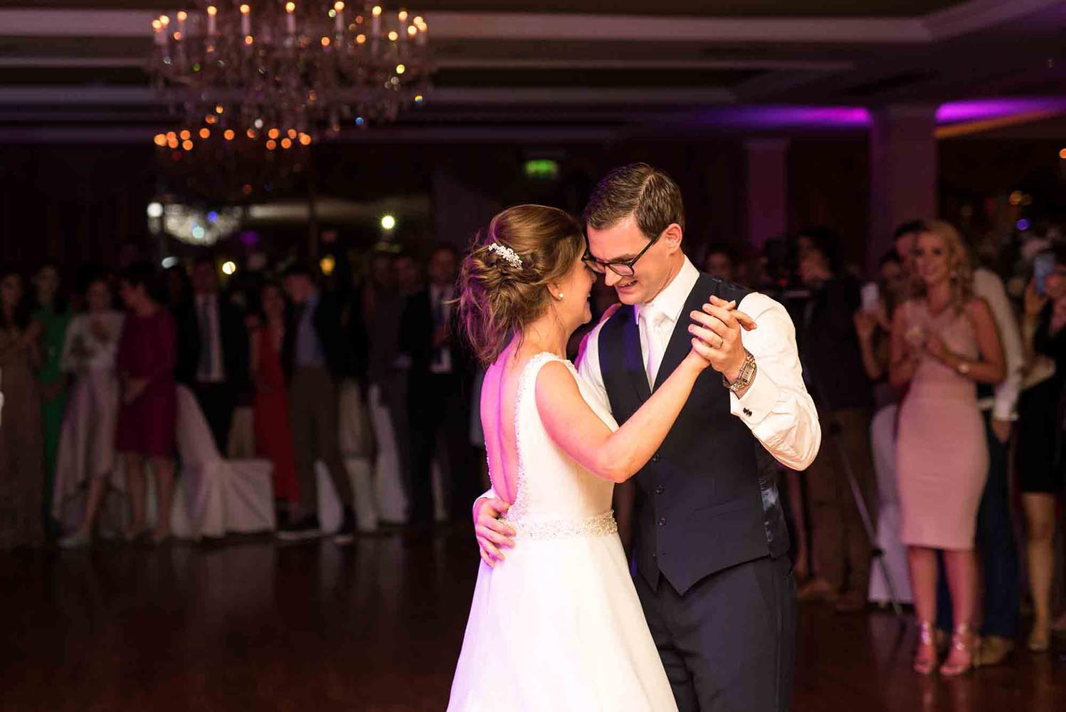 Couple together during their first dance
