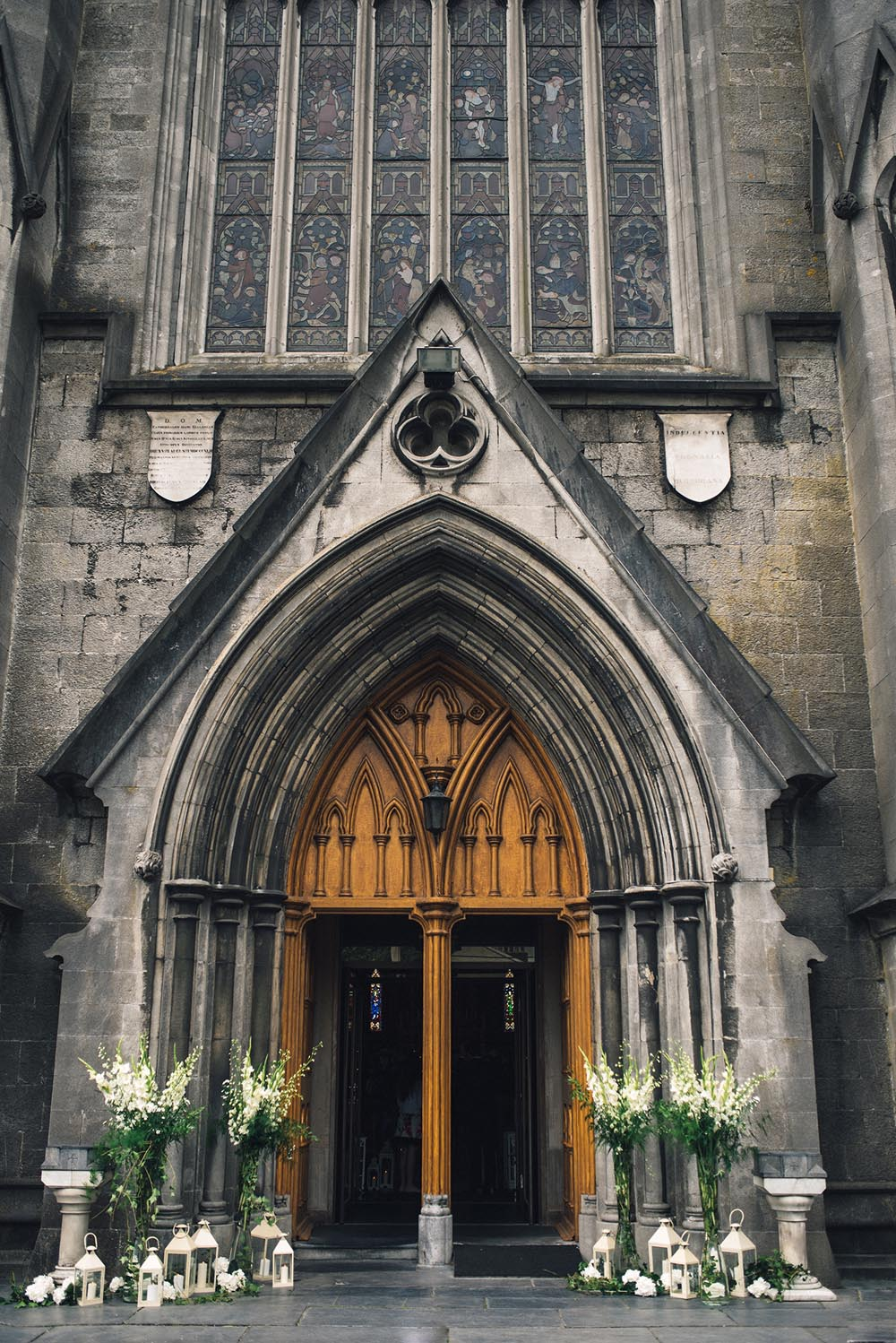Doorway of St Mary's Cathedral in Kilkenny city