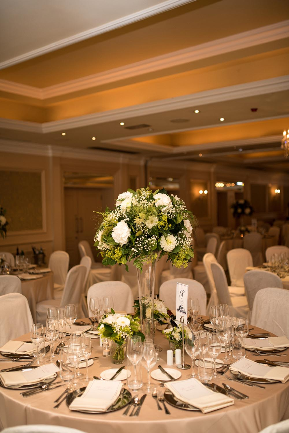 Table setting at the Newpark Hotel Kilkenny
