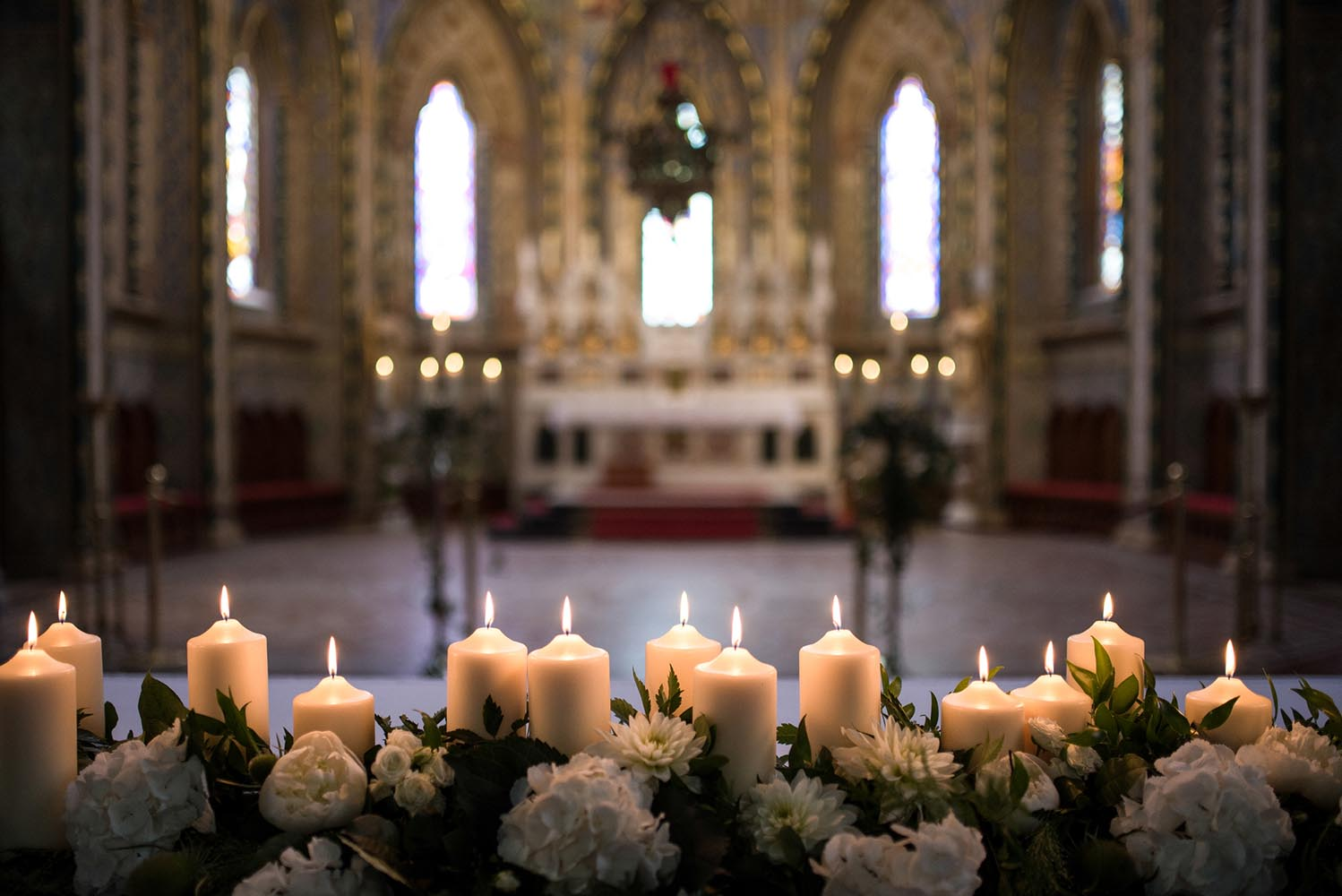Candles lighting in church