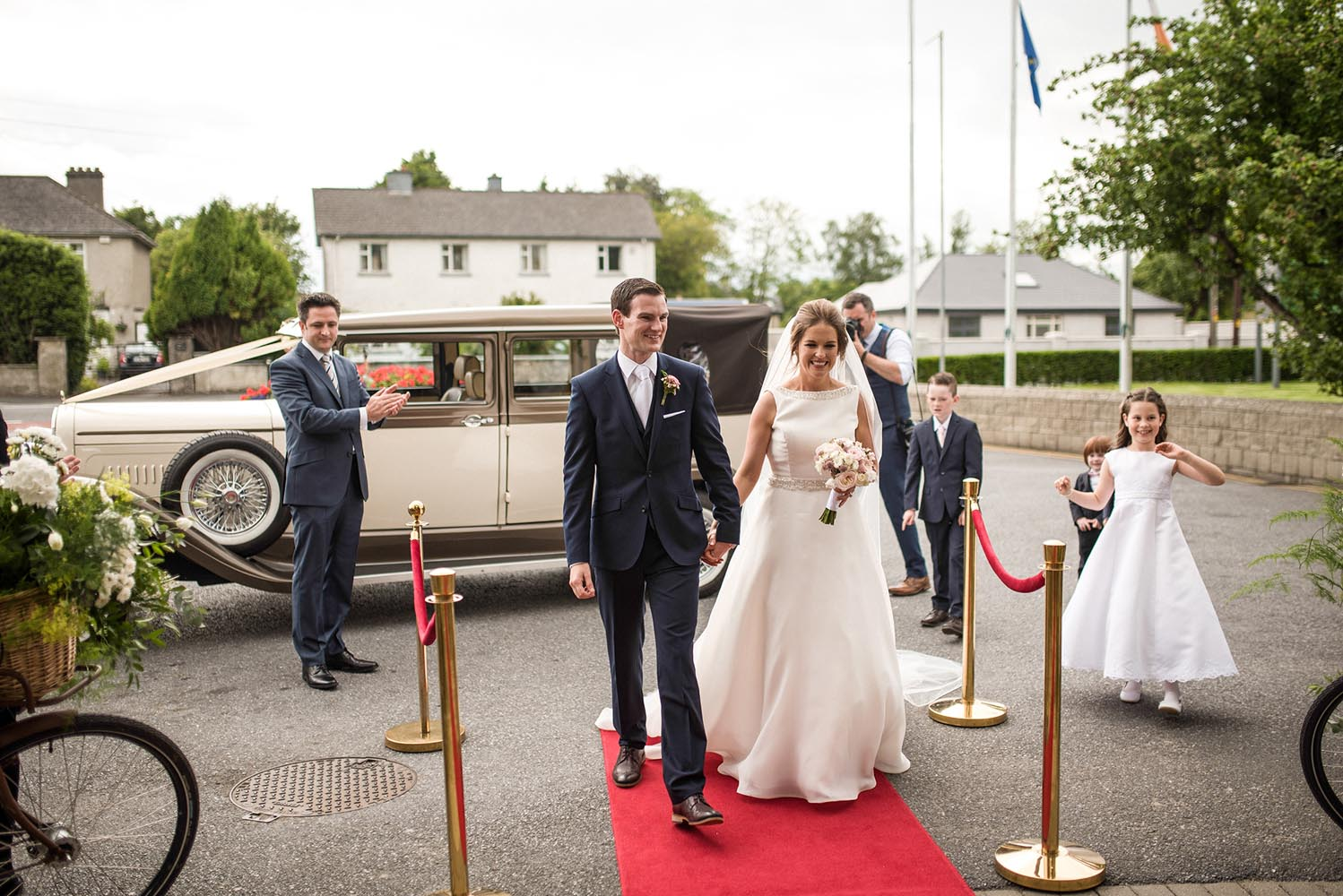 Married couple arrive to the Newpark Hotel, Kilkenny