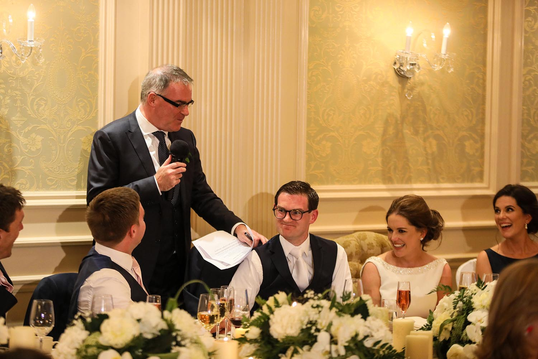 Bestman making speech at wedding