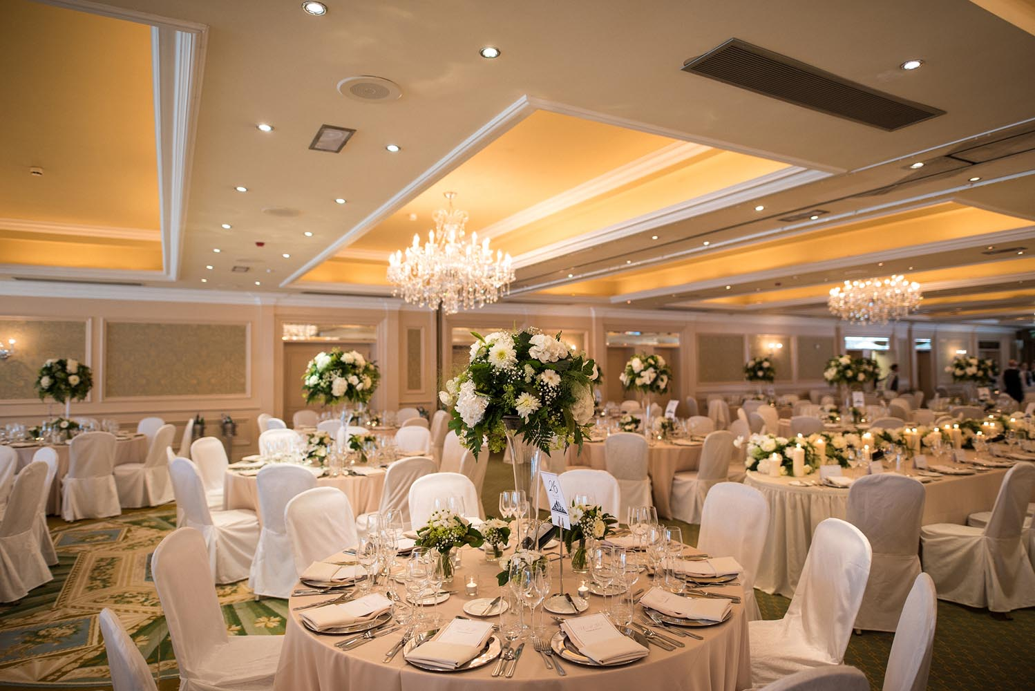 Tables set for a wedding at the Newpark Hotel Kilkenny