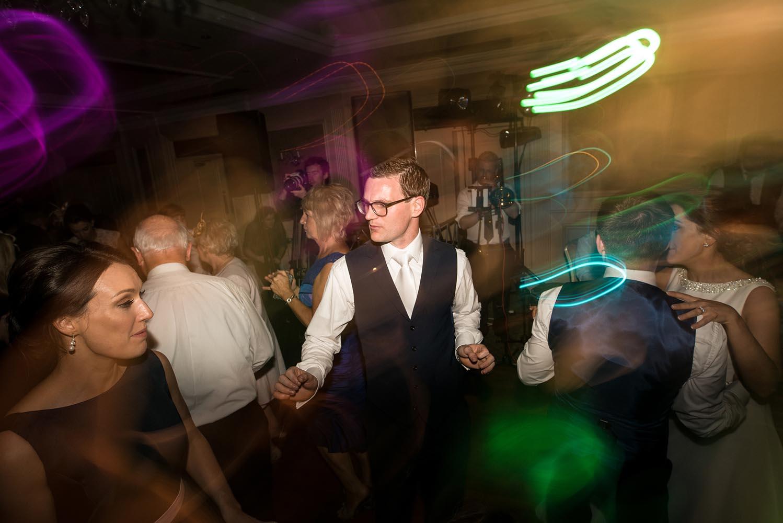 Groom dancing on his wedding day