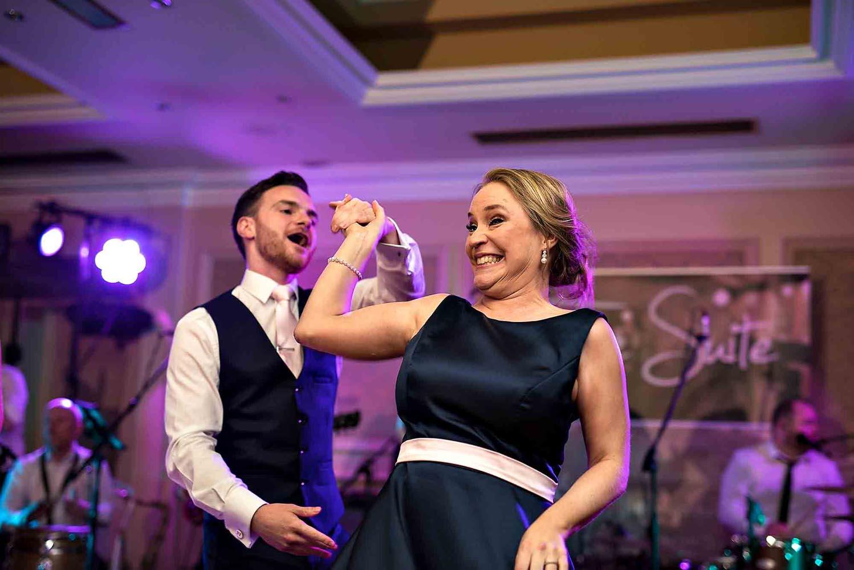 Fun on the dancefloor during a wedding