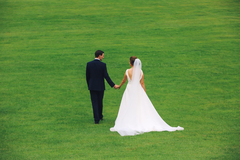 Married couple take a walk alone together