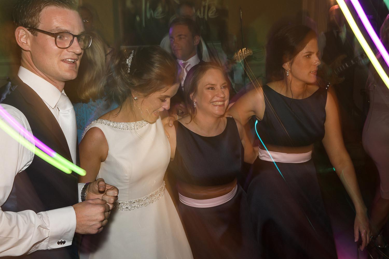 Married couple enjoying dancing on their wedding day