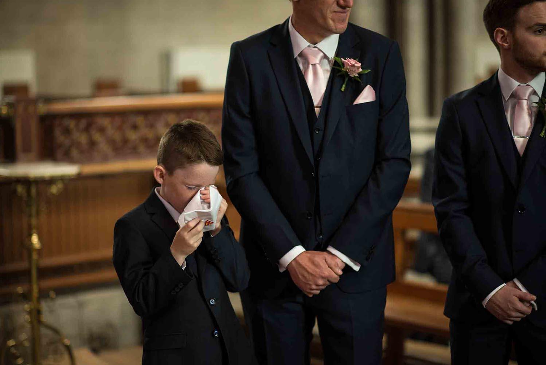 Page boy at wedding
