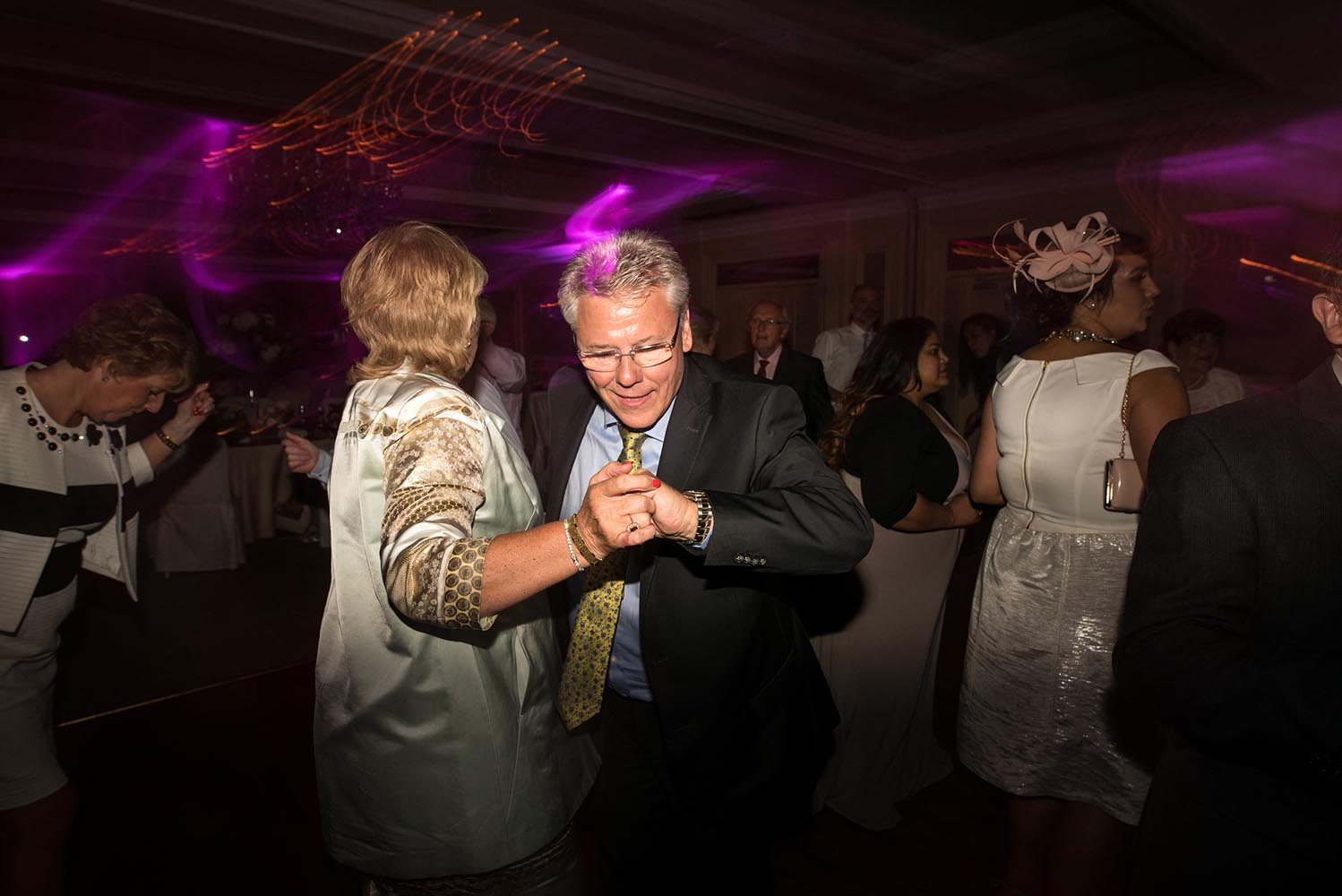 People dancing during a wedding