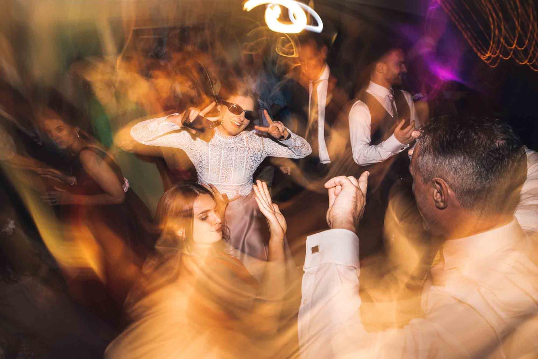 Group dancing on the dancefloor