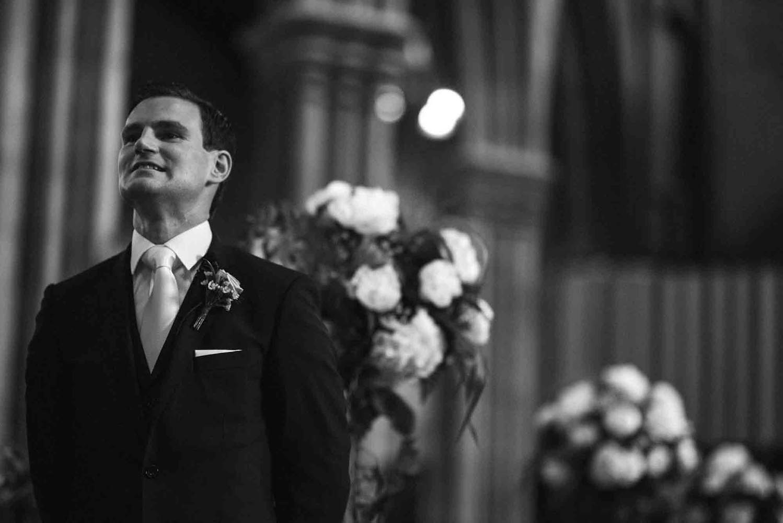 Groom awaiting his bride