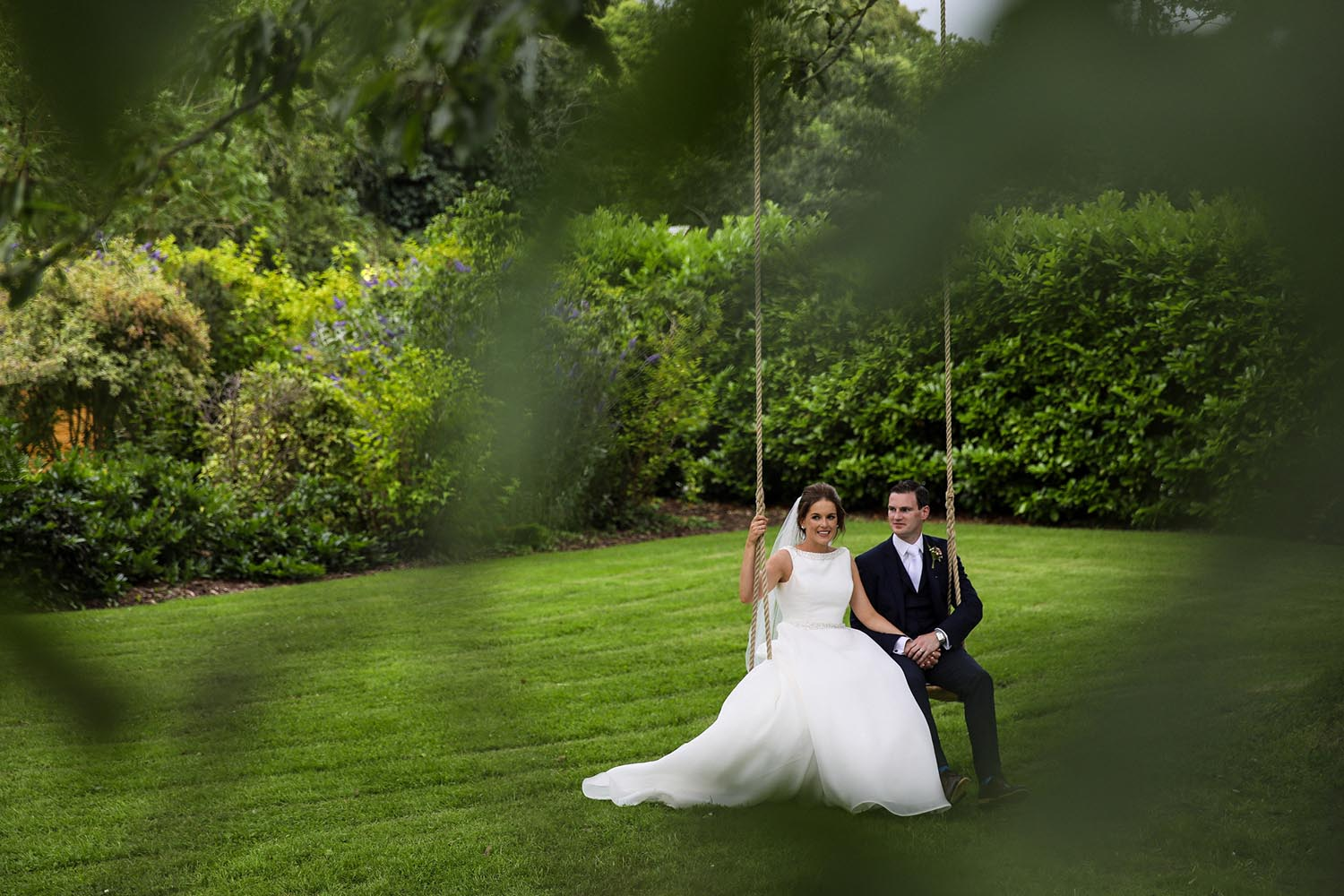 Married couple on a swing